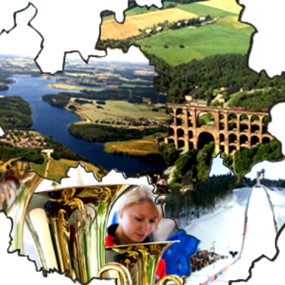 Ansichten Vogtlandkreis in Karte